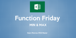 Excel MIN MAX Functions