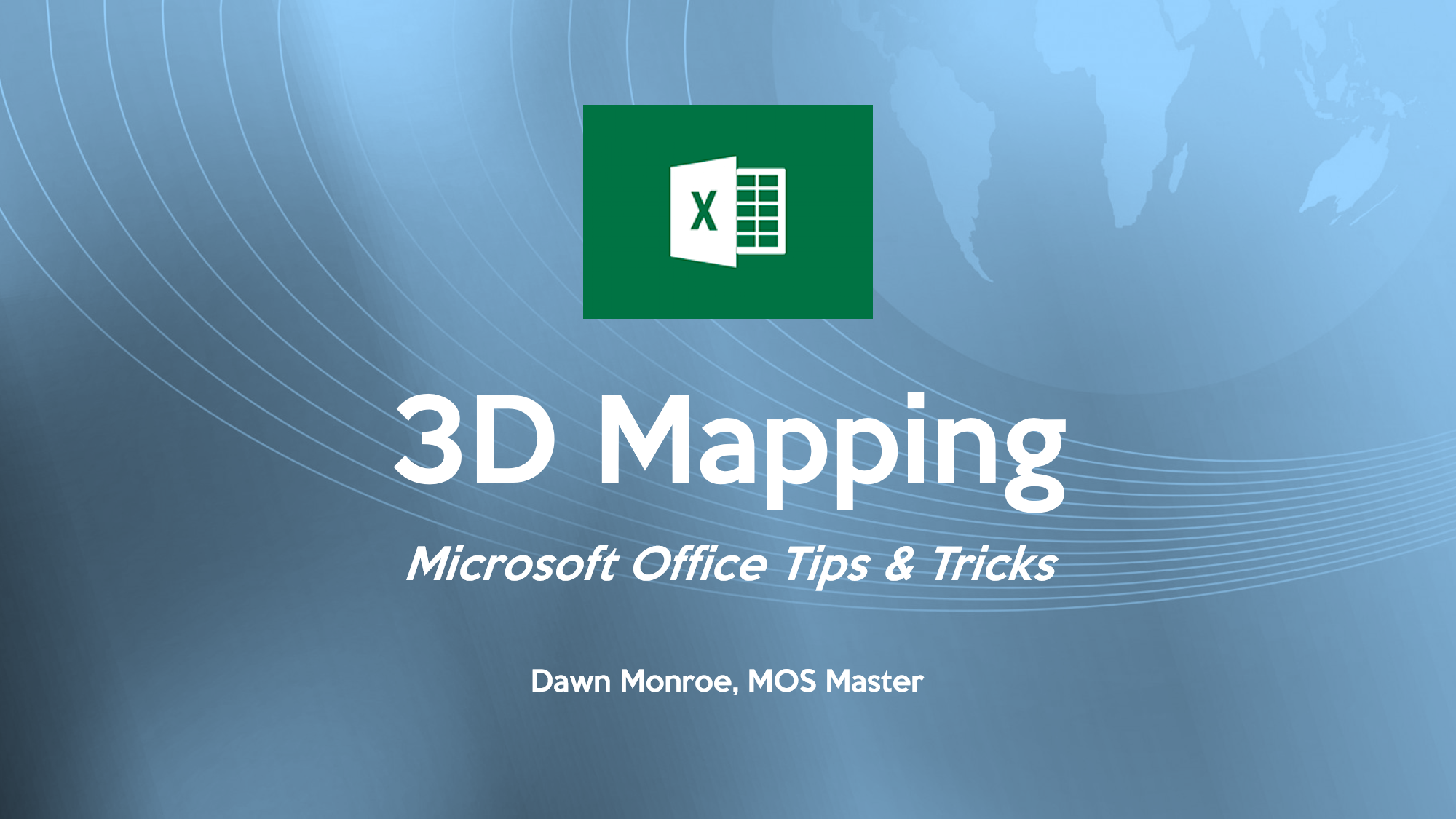 Excel 3D Mapping