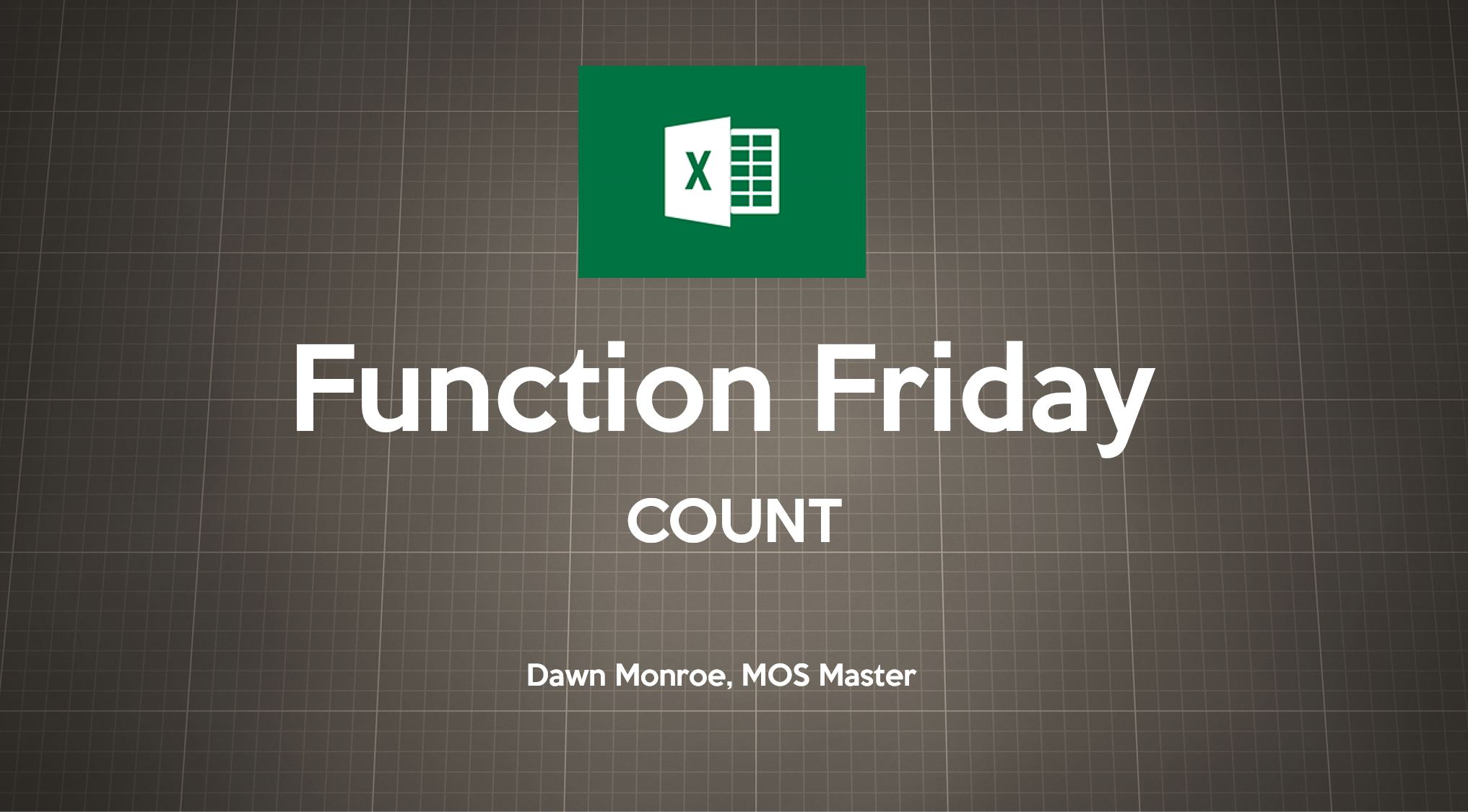 Excel COUNT Function