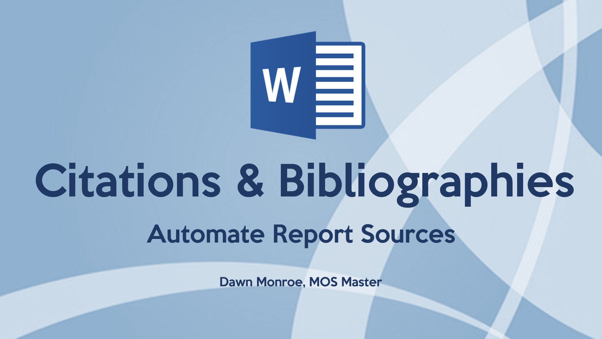 Word Citations Bibliography