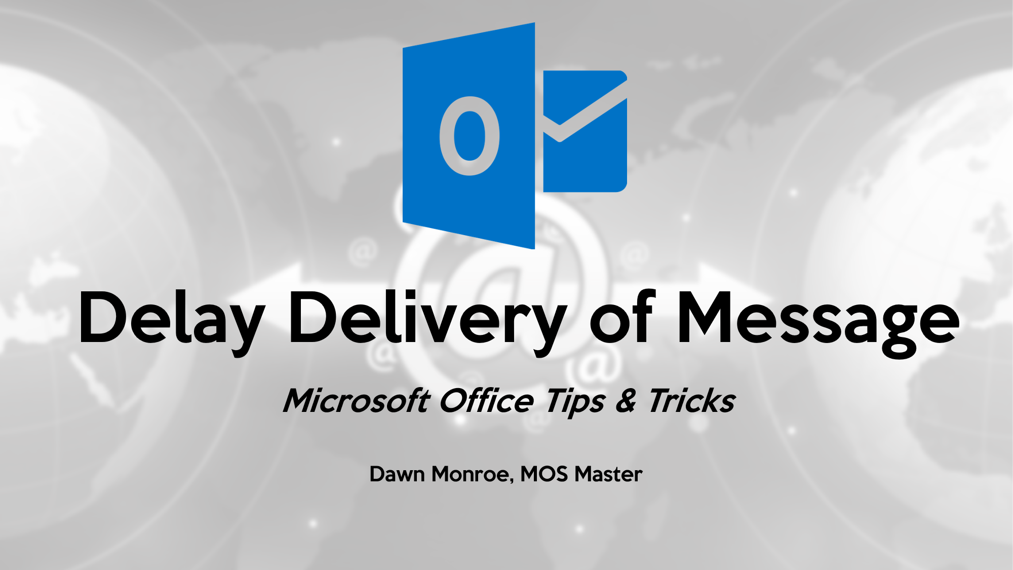 Outlook Mail Delay Delivery
