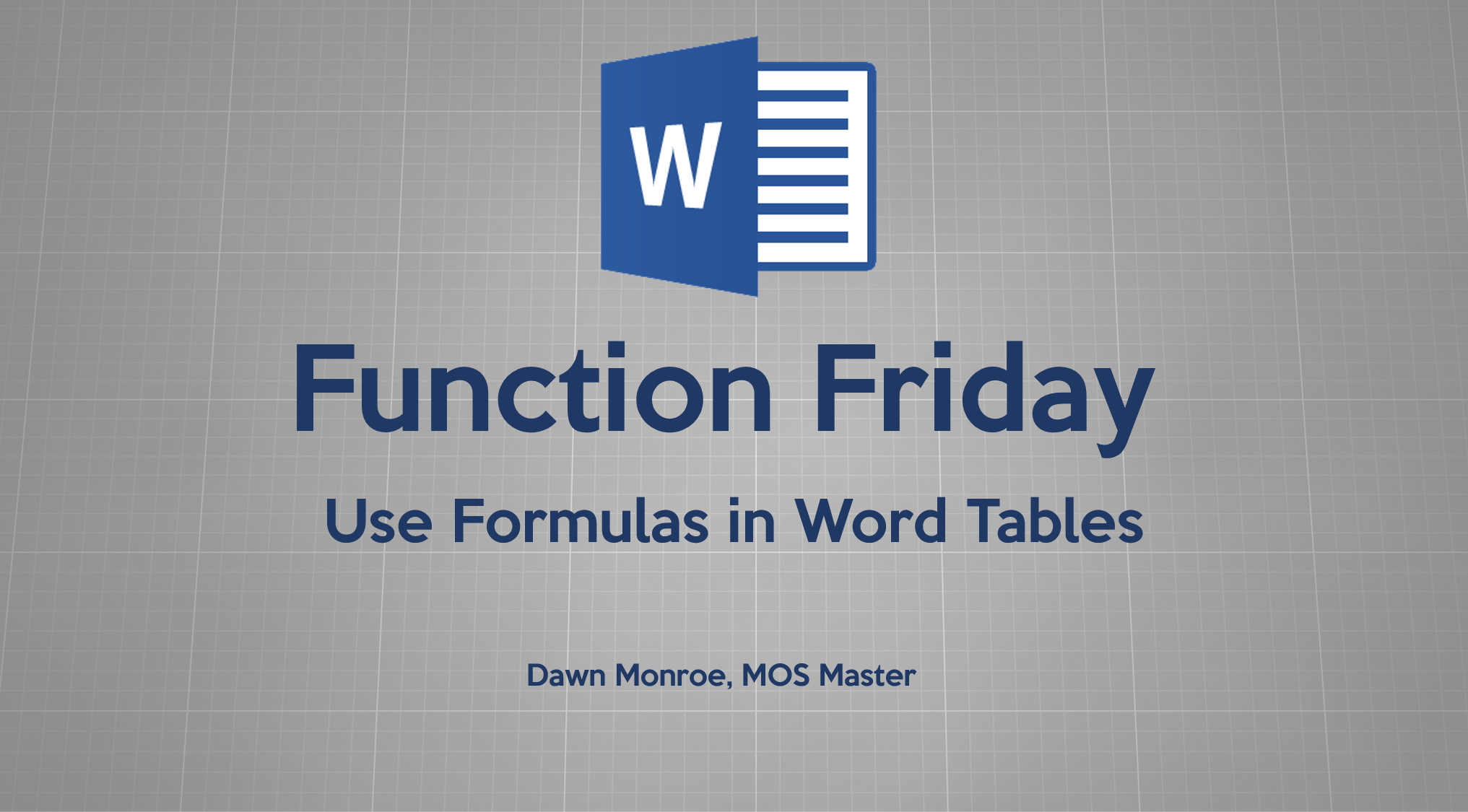 Word Table Functions