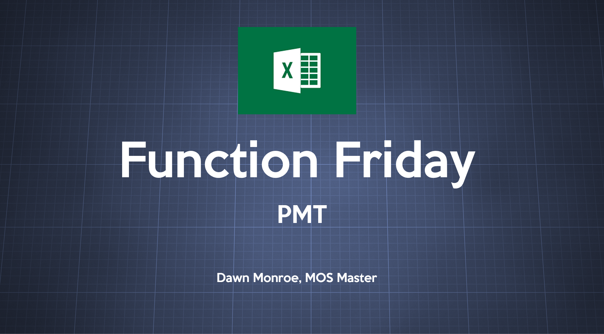 Excel Payment PMT Function