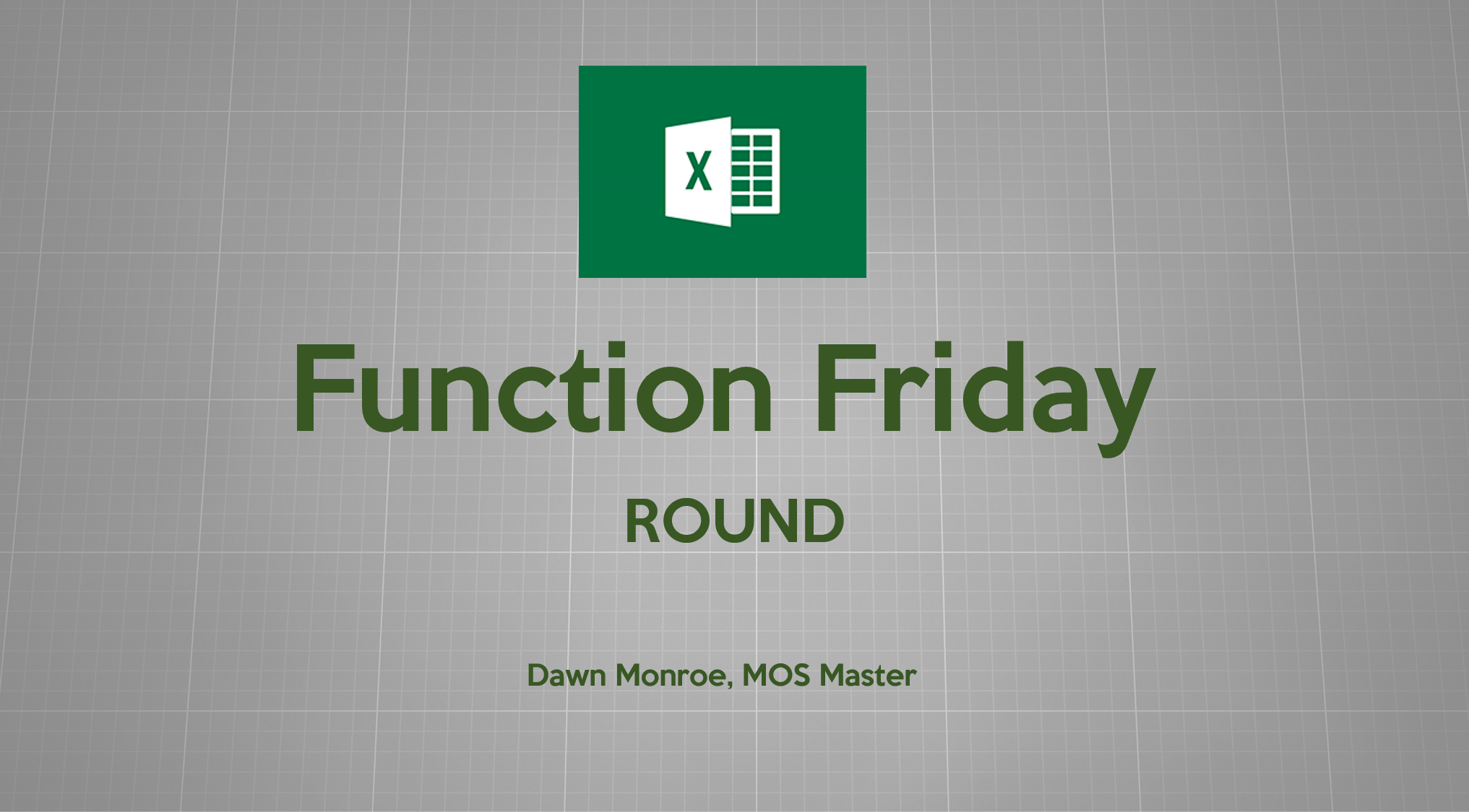 Excel Function ROUND