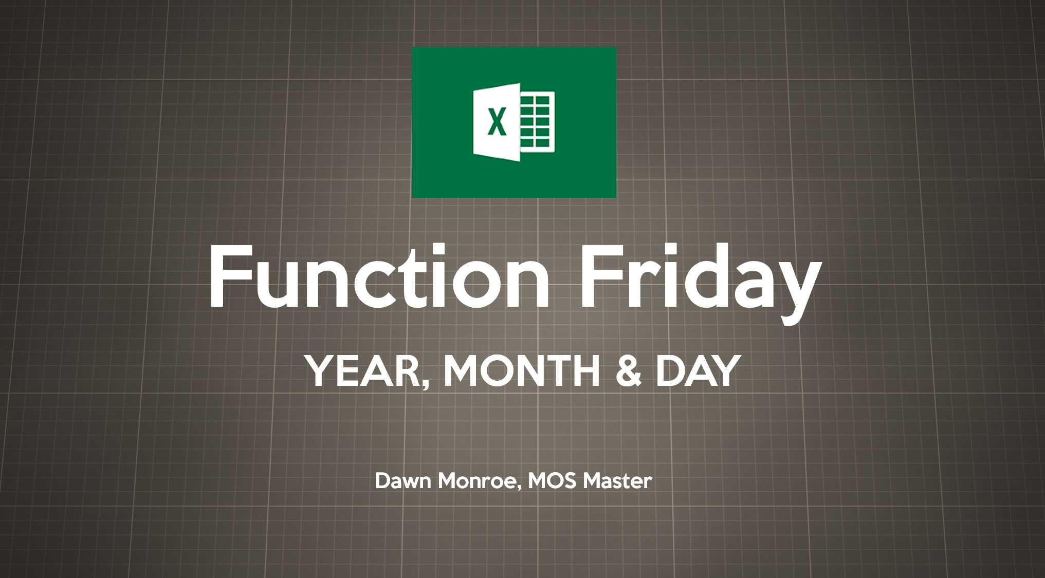 Excel YEAR MONTH DAY Functions