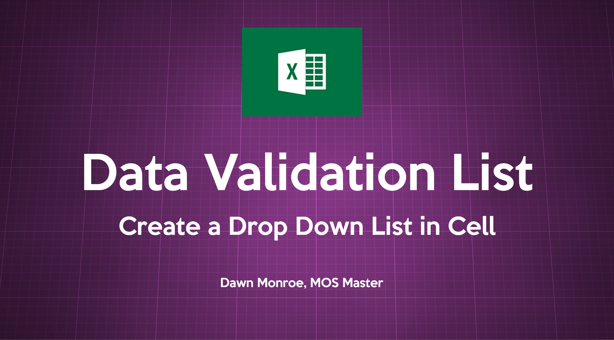 Data Validation List