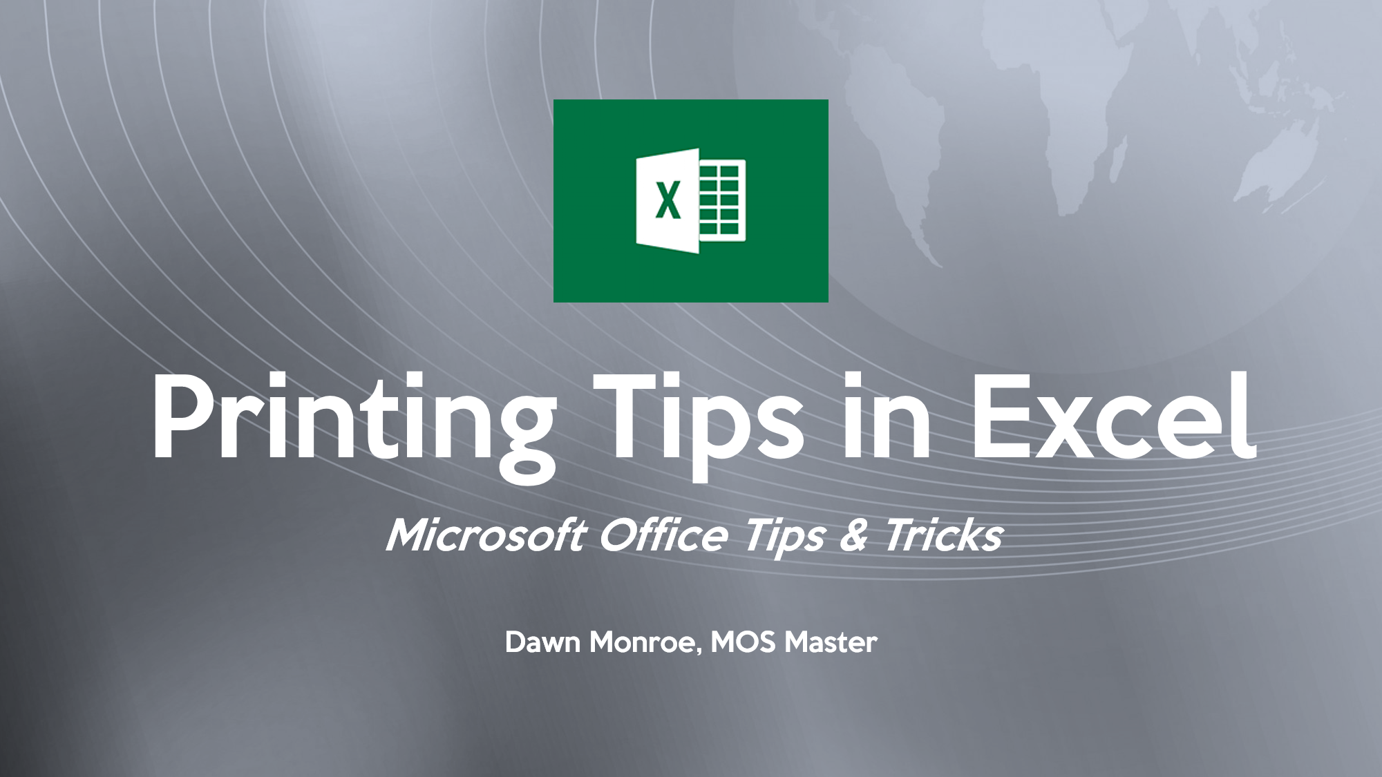 Excel Print Tips