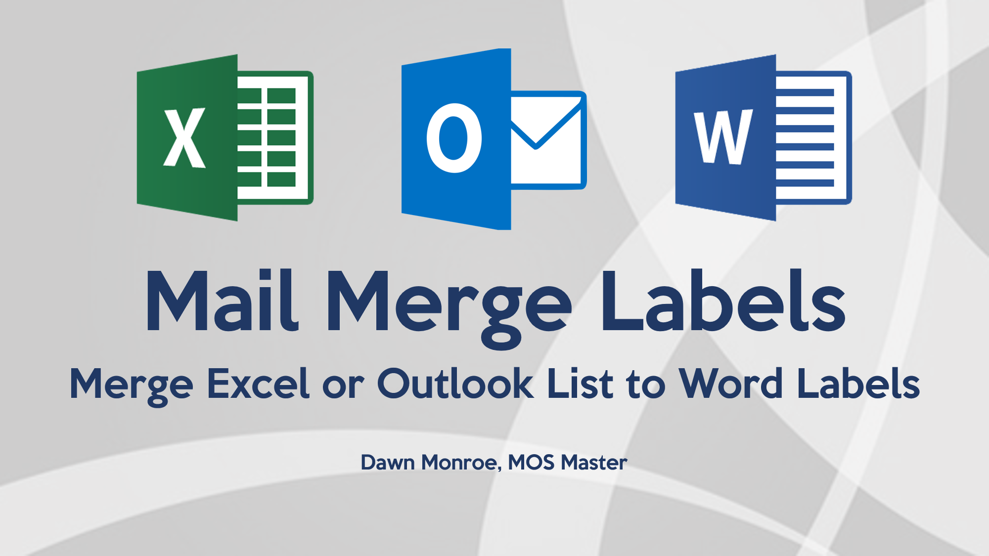 Mail Merge Labels