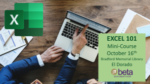 BETA:  Excel 101 Mini-Course @ Bradford Memorial Library, El Dorado