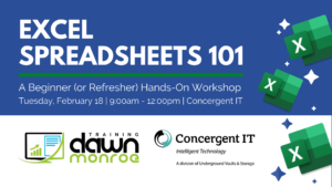 Excel Spreadsheets 101 @ Concergent IT