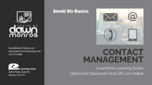 Contact Management | Small Business Owners @ Live Online or Pen Learning Center
