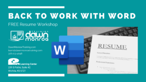 Back to Work | Microsoft WORD RESUME Workshop @ Live Online or Pen Learning Center