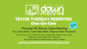 Techie Tuesday Reserved One-on-One @ Live Online Zoom