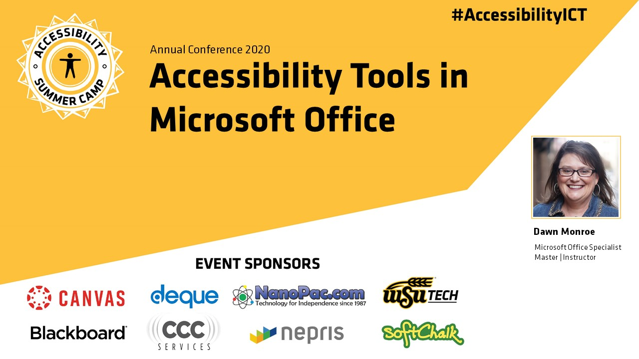 Accessibility Tools in Microsoft Office